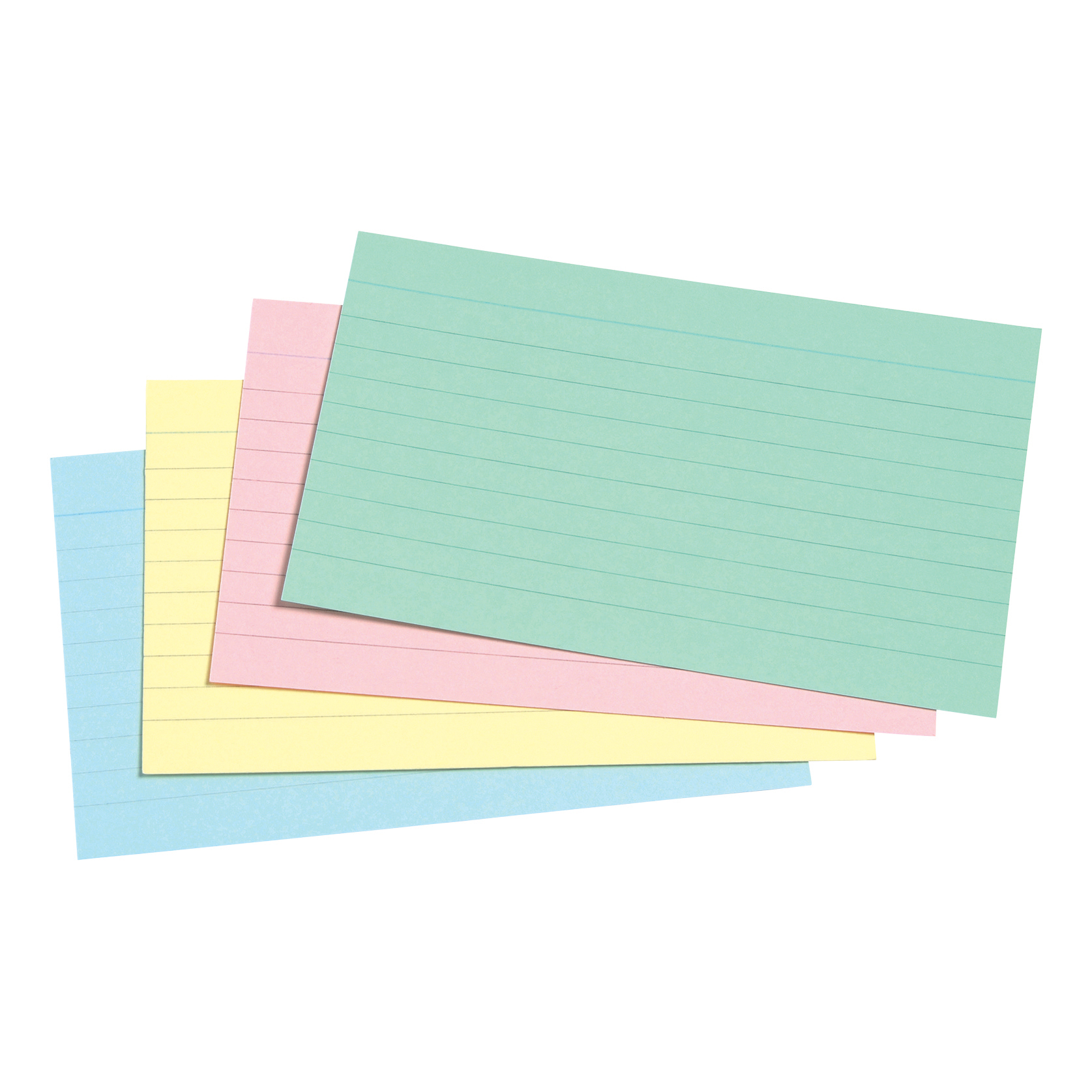 5 Star Office Record Cards Ruled Both Sides 5x3in 127x76mm Assorted Pack 100