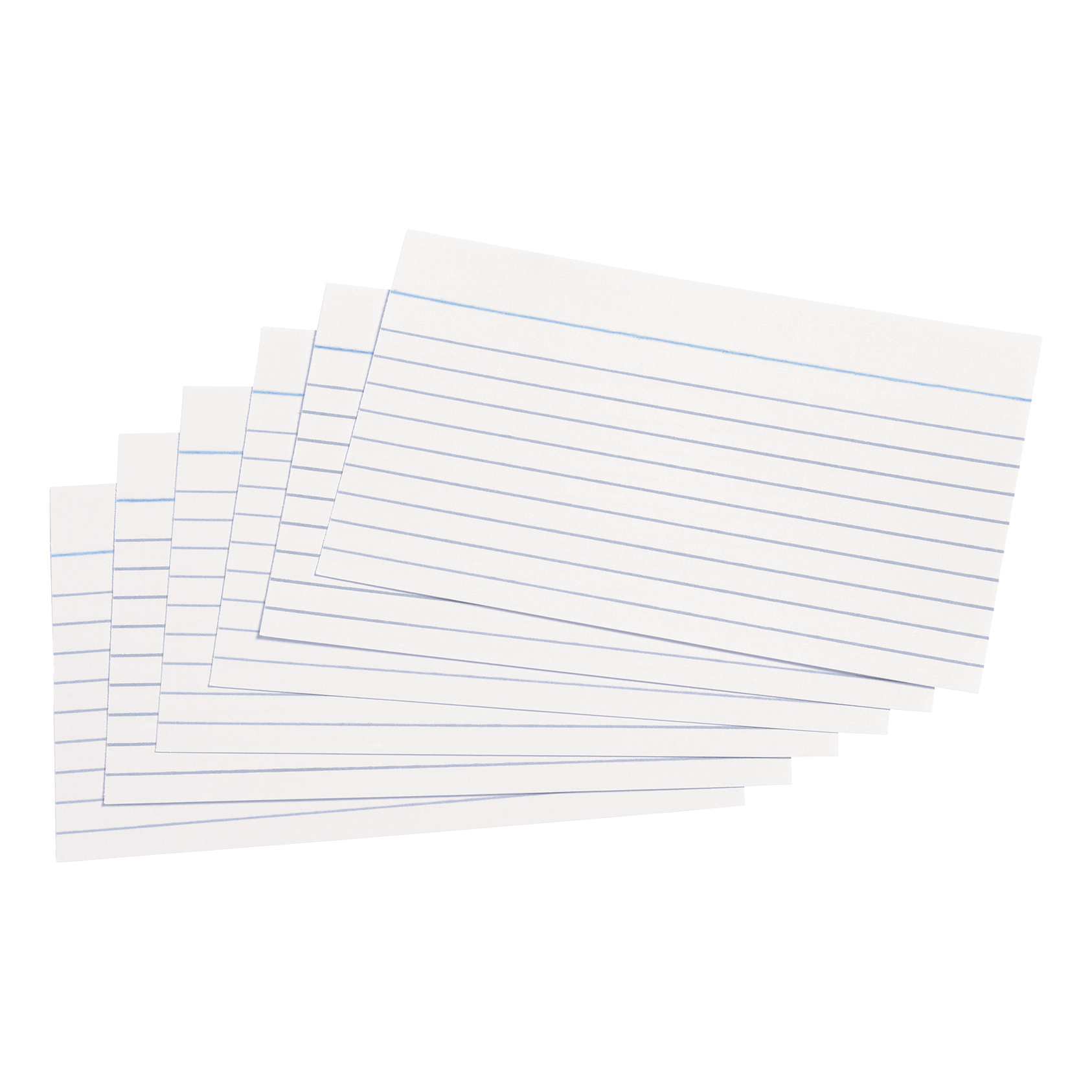5 Star Office Record Cards Ruled Both Sides 5x3in 127x76mm White Pack 100