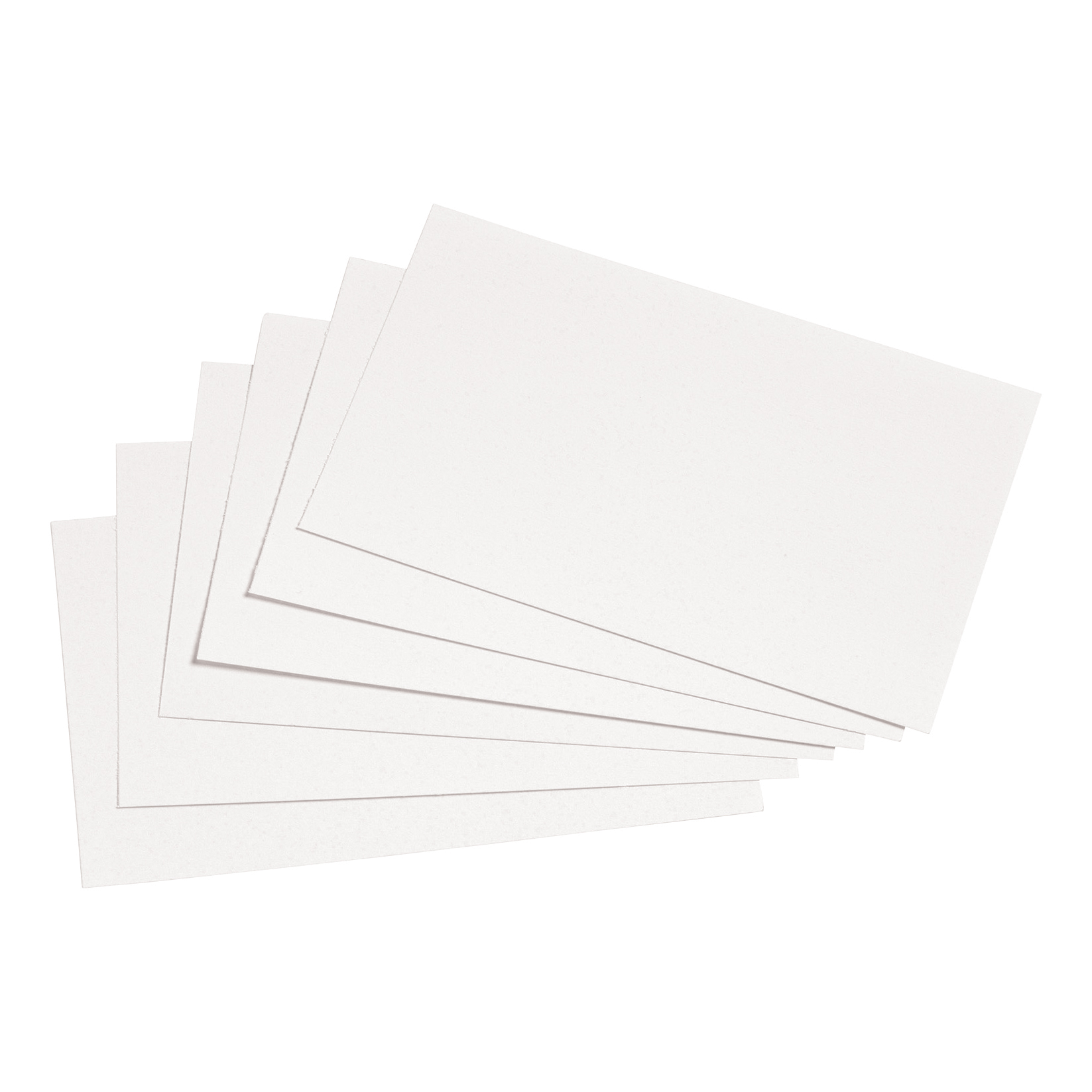 5 Star Office Record Cards Blank 5x3in 127x76mm White Pack 100