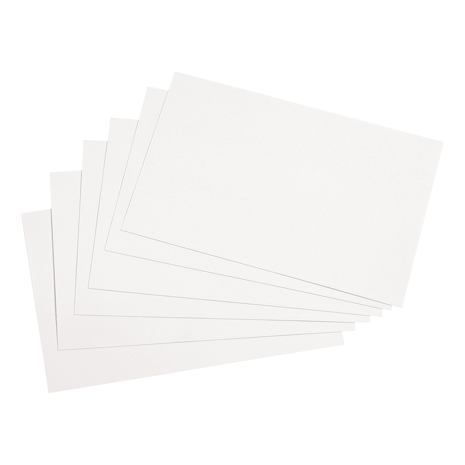 5 Star Office Record Cards Blank 6x4in 152x102mm White Pack 100