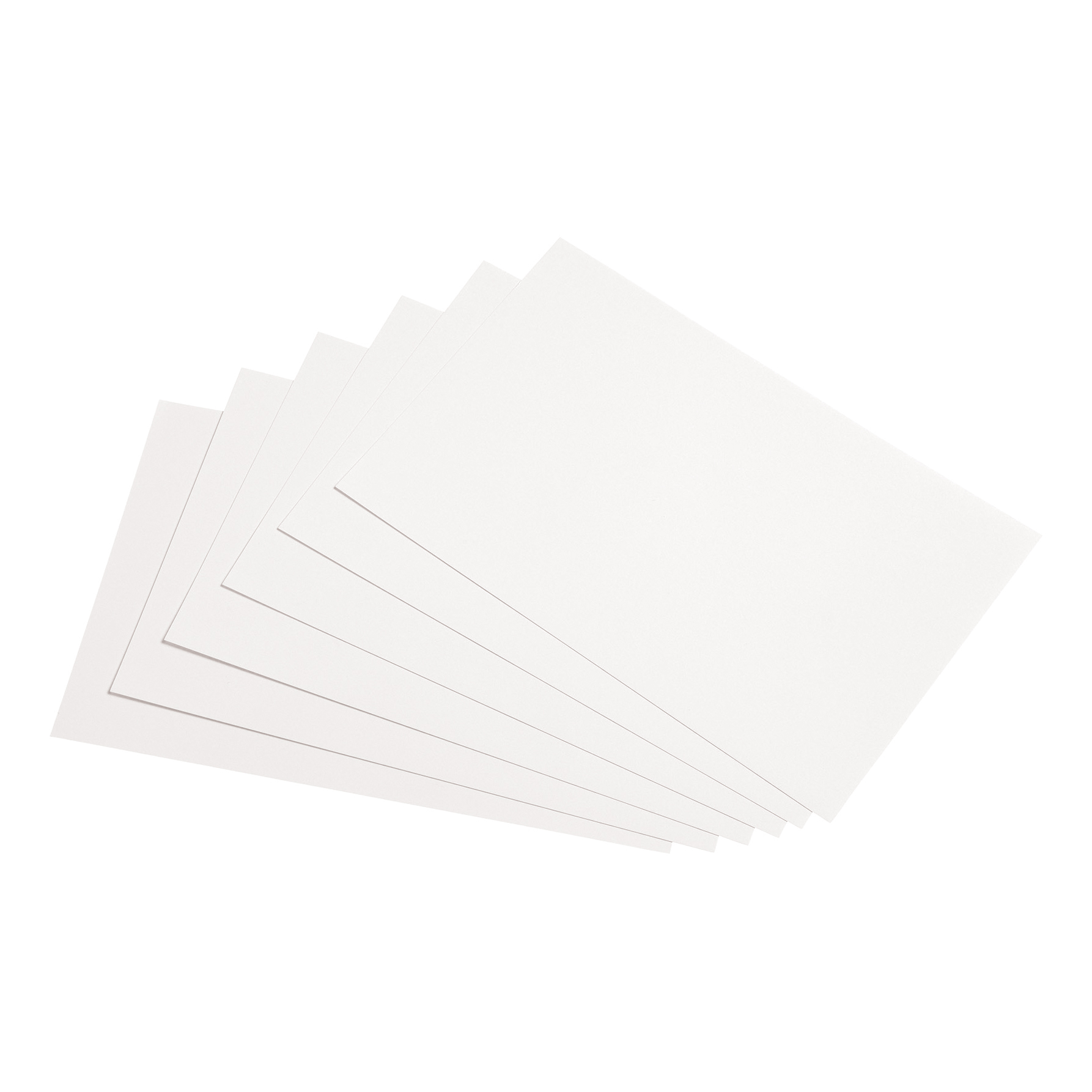 5 Star Office Record Cards Blank 8x5in 203x127mm White Pack 100