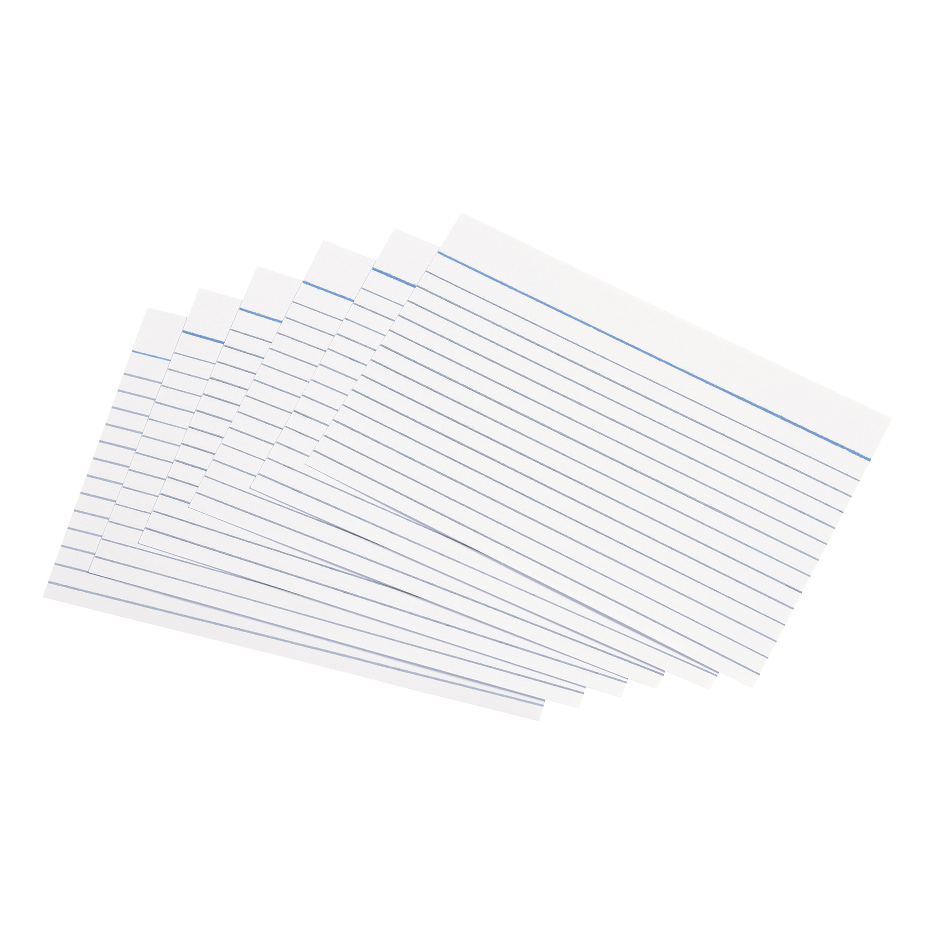 5 Star Office Record Cards Ruled Both Sides 6x4in 152x102mm White Pack 100