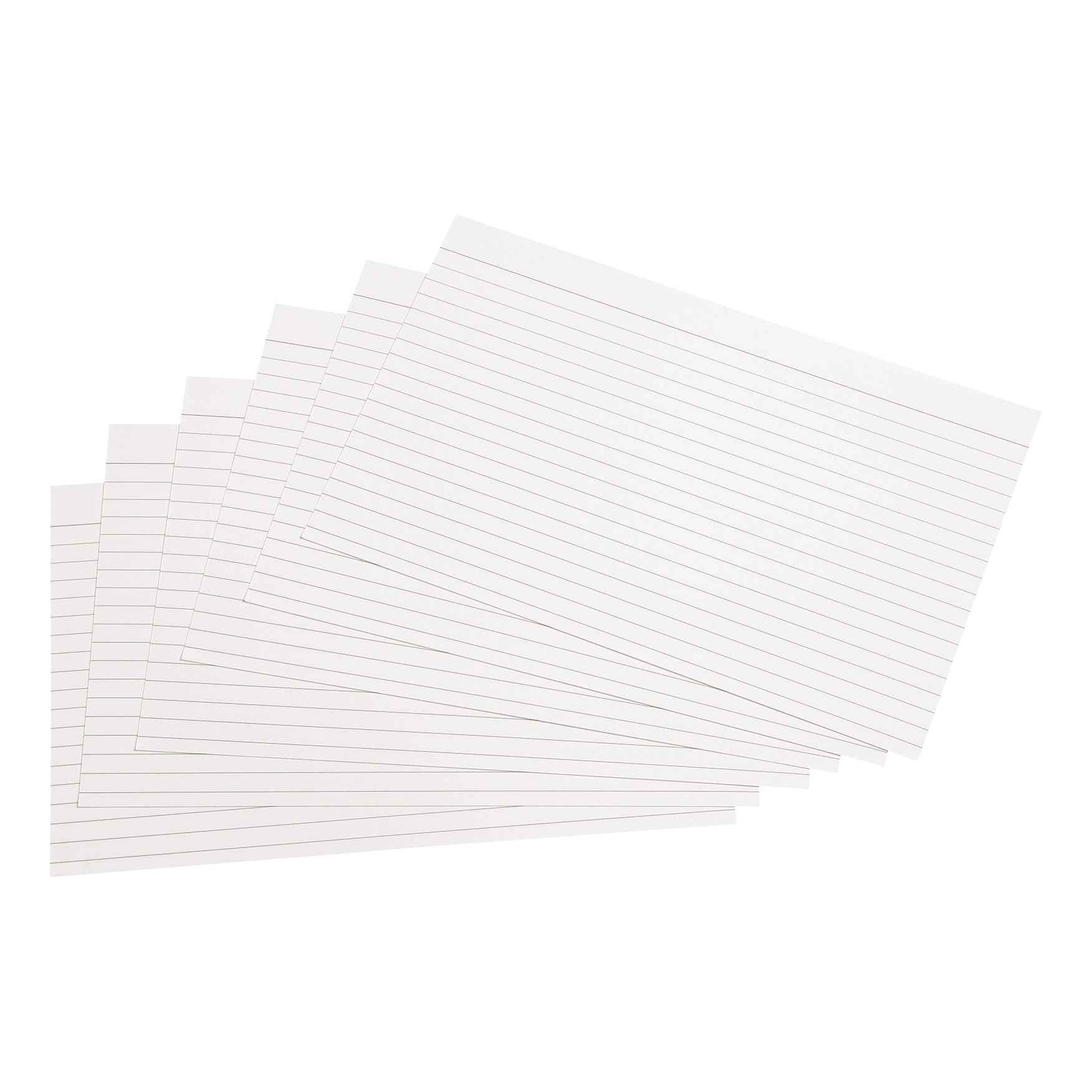 5 Star Office Record Cards Ruled Both Sides 8x5in 203x127mm White Pack 100