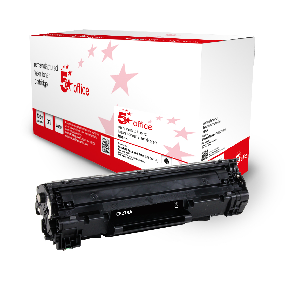 5 Star Office Remanufactured Toner Cartridge Page Life Black 1000pp [HP 79A CF279A Alternative]