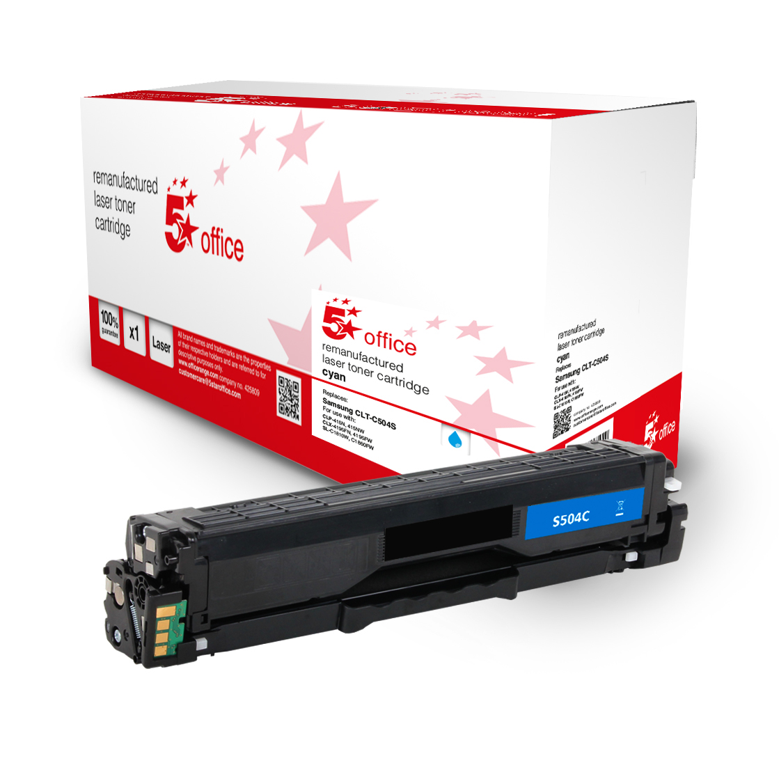5 Star Office Remanufactured Toner Cartridge Page Life Cyan 1800pp Samsung SU025A Alternative
