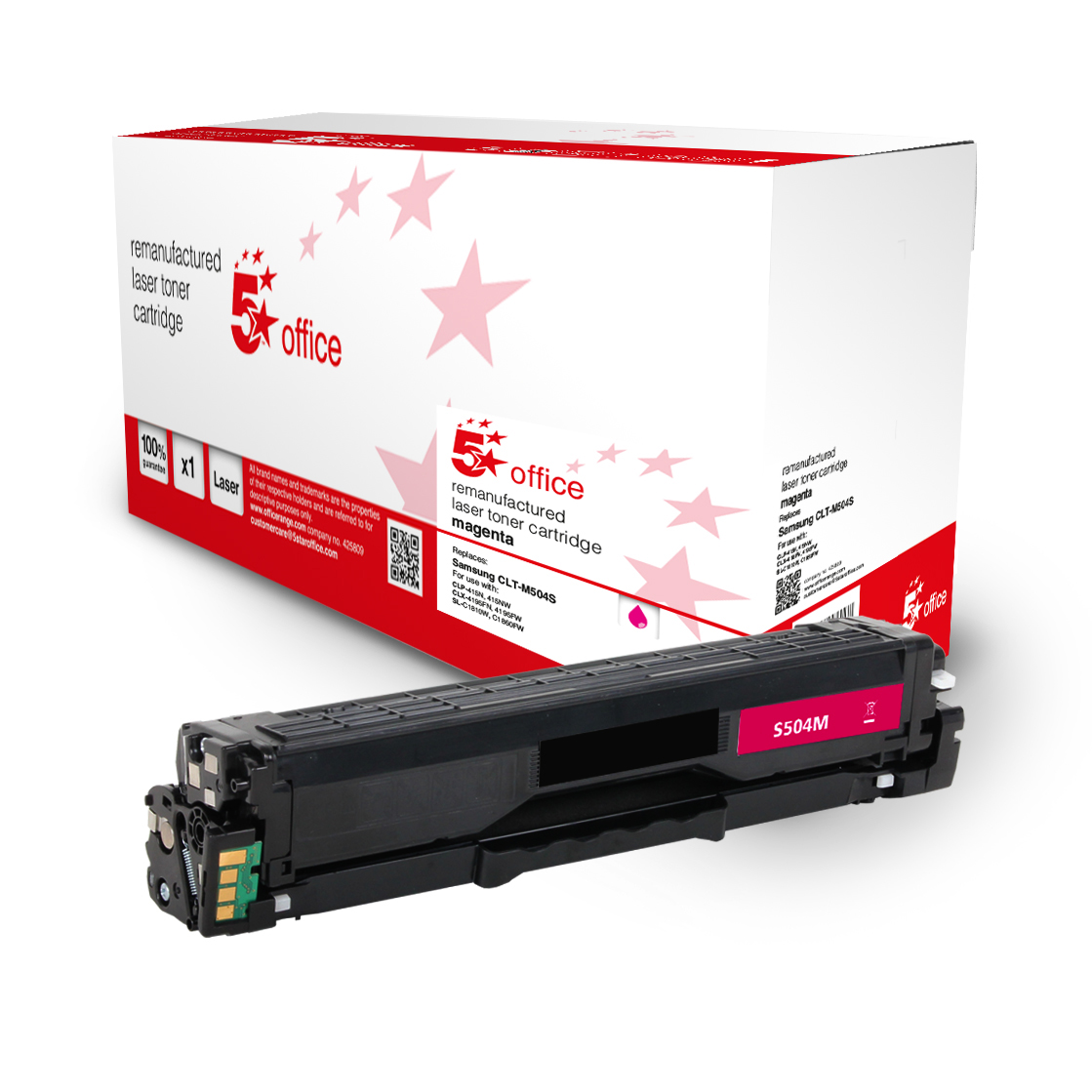 5 Star Office Remanufactured Toner Cartridge Page Life Magenta 1800pp Samsung SU292A Alternative