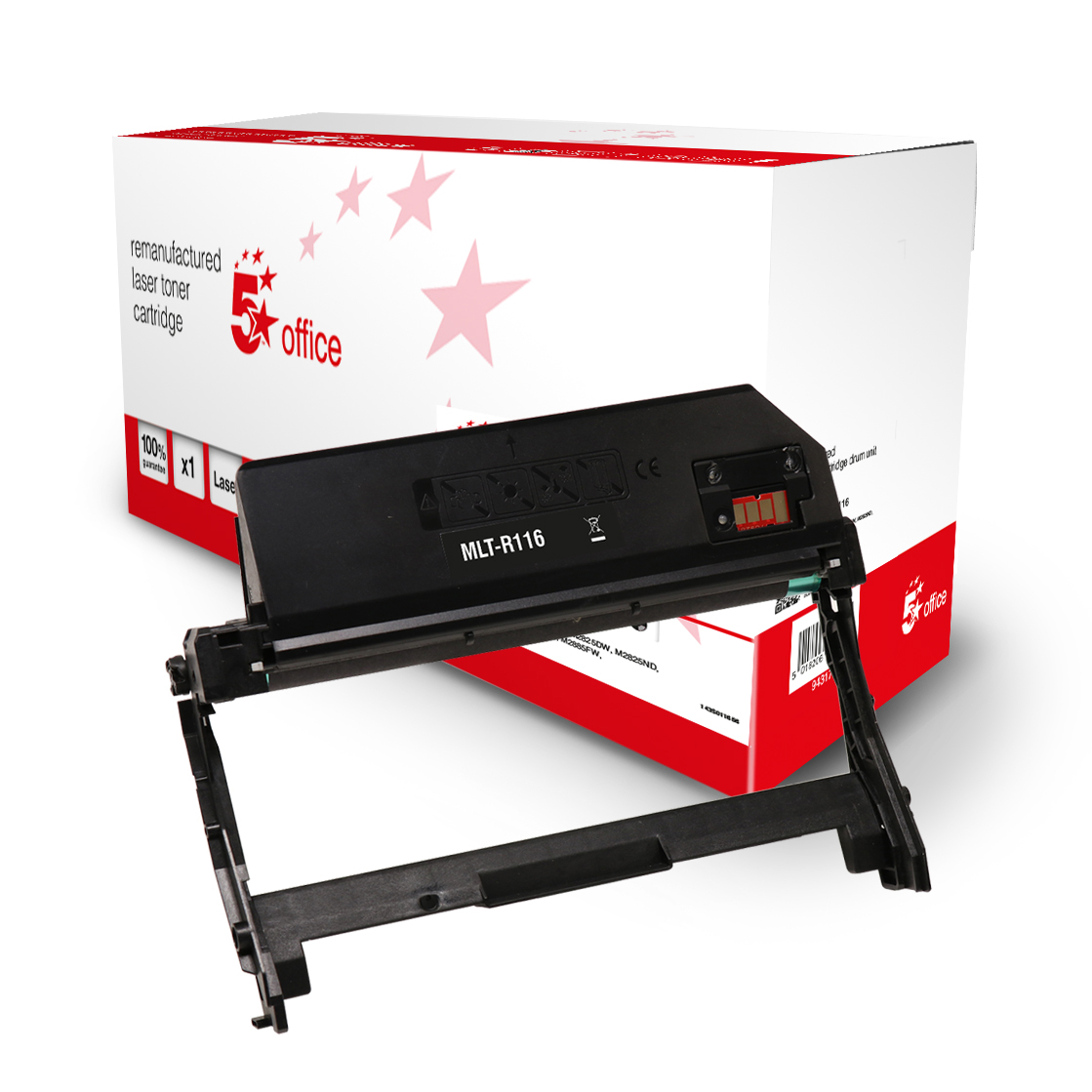 Laser Toner Cartridges 5 Star Office Remanufactured OPC Drum Page Life Black 9000pp Samsung MLT-R116/SEE Alternative