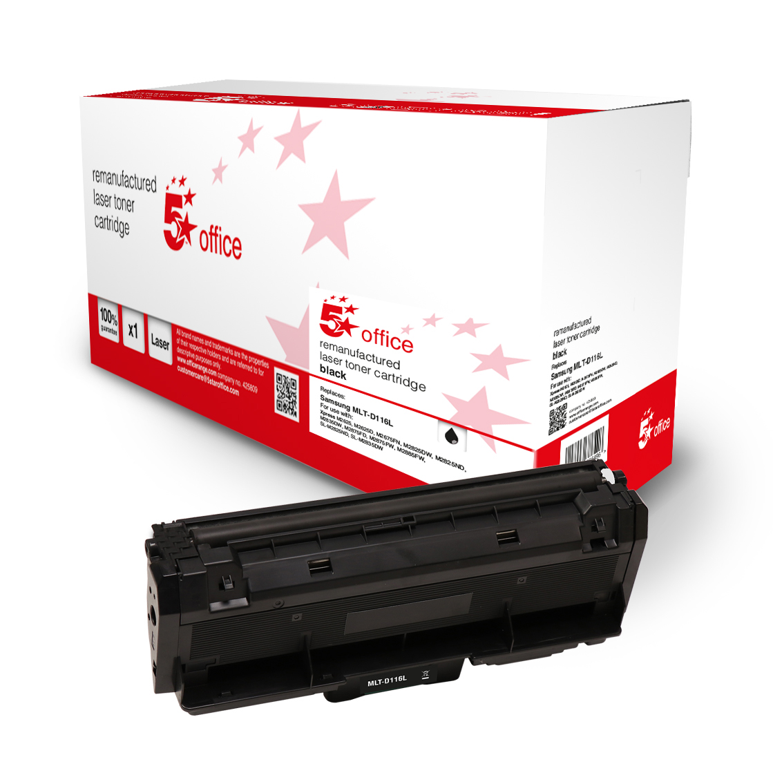5 Star Office Remanufactured Toner Cartridge Page Life Black 3000pp [Samsung SU828A Alternative]