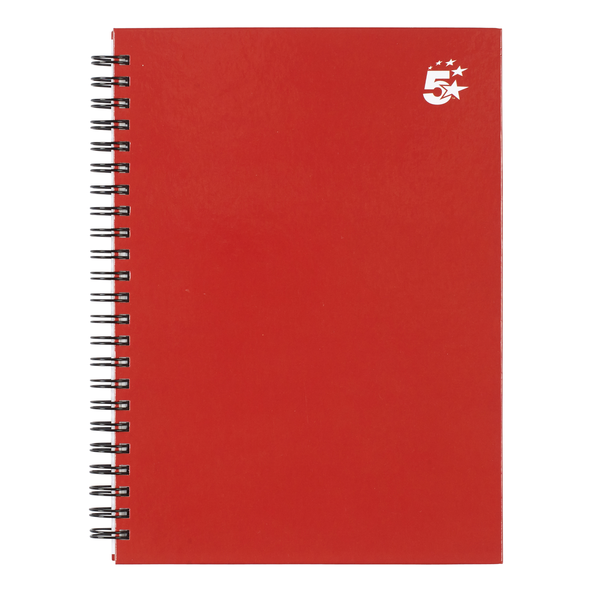 Paper pads or notebooks 5 Star Office Twinbound Hardback A5 140Pg Berry Ref 943445 Pack 5