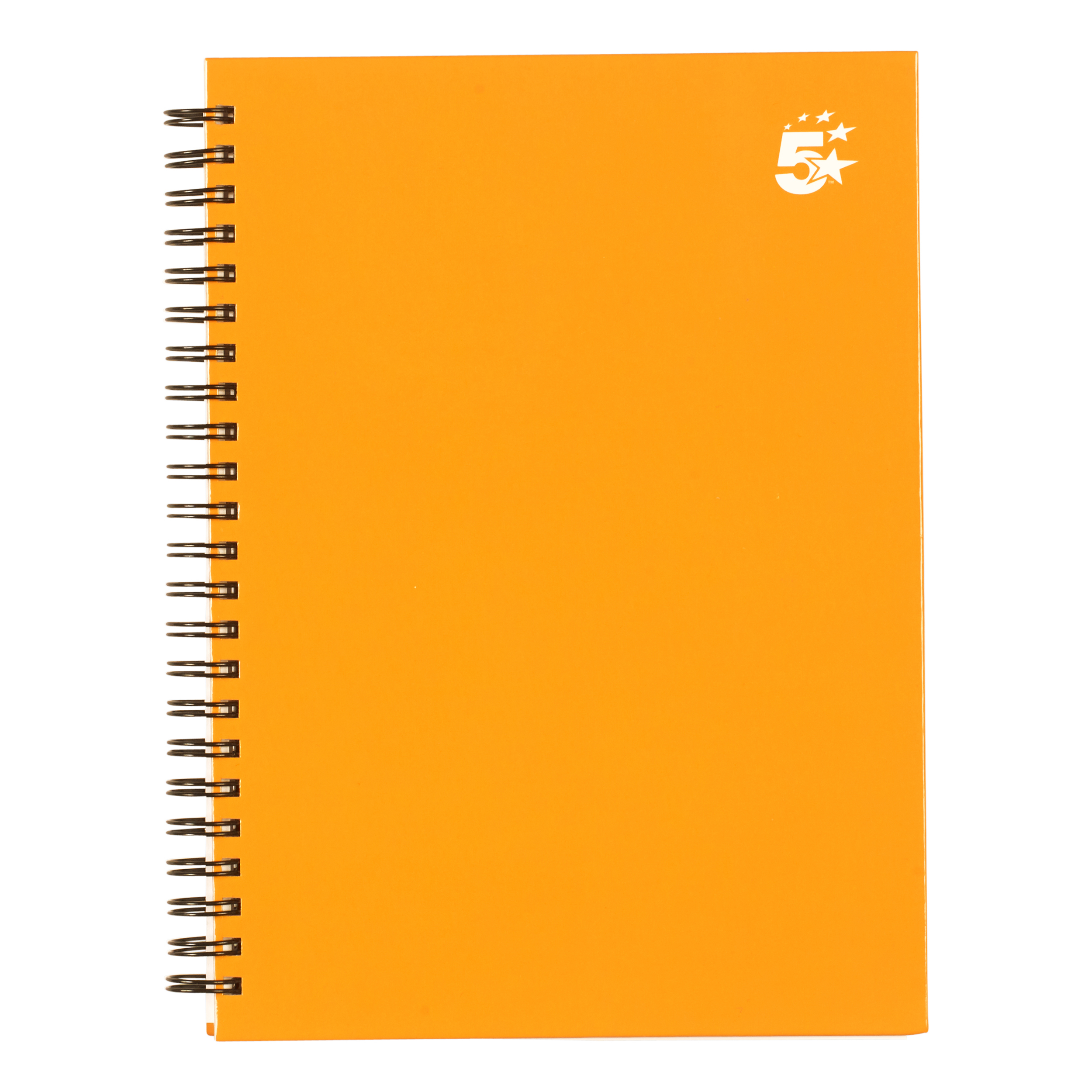 Paper pads or notebooks 5 Star Office Twinbound Hardback A5 140Pg Yellow Ref 943461 Pack 5