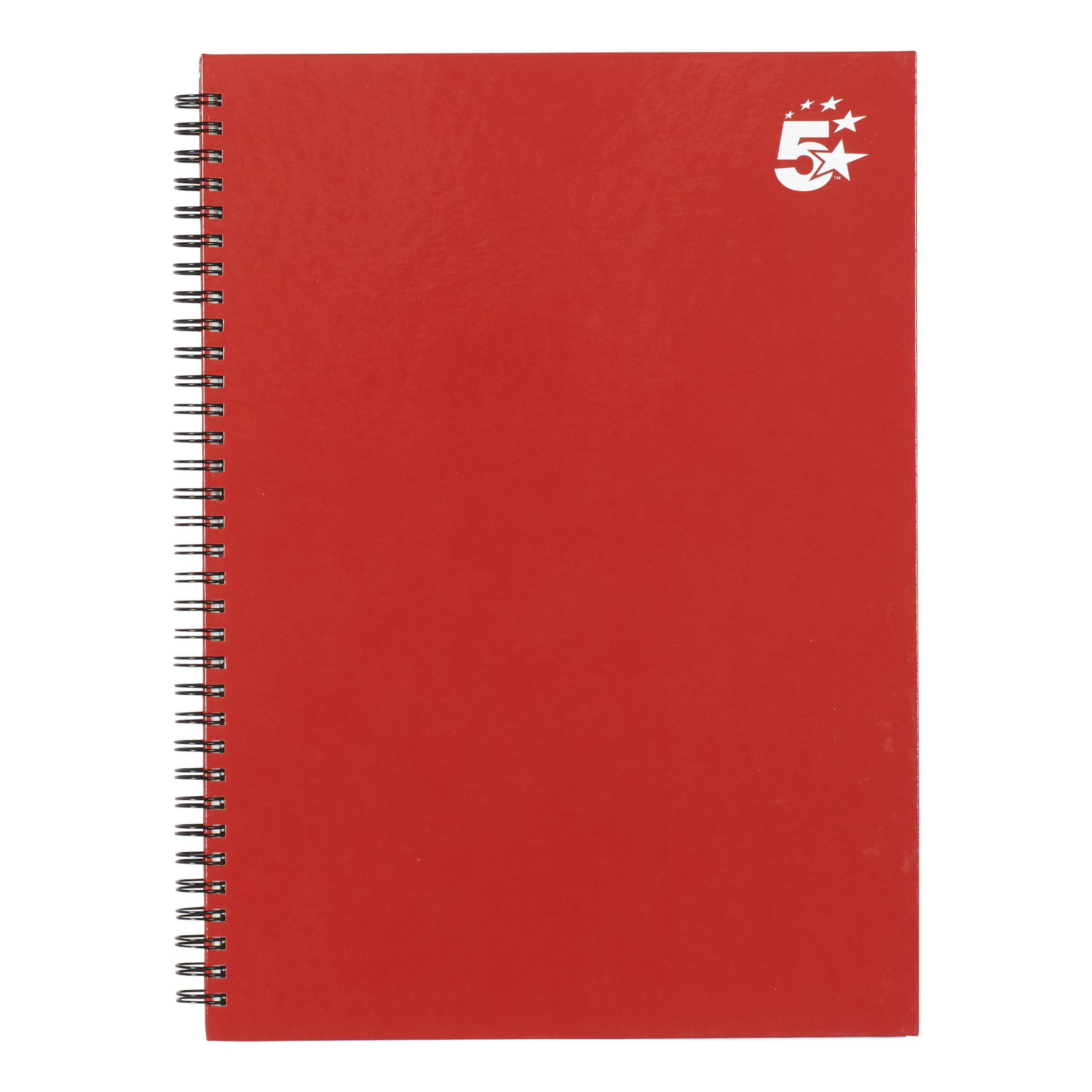 Paper pads or notebooks 5 Star Office Twinbound Hardback A4 140Pg Berry Ref 943466 Pack 5