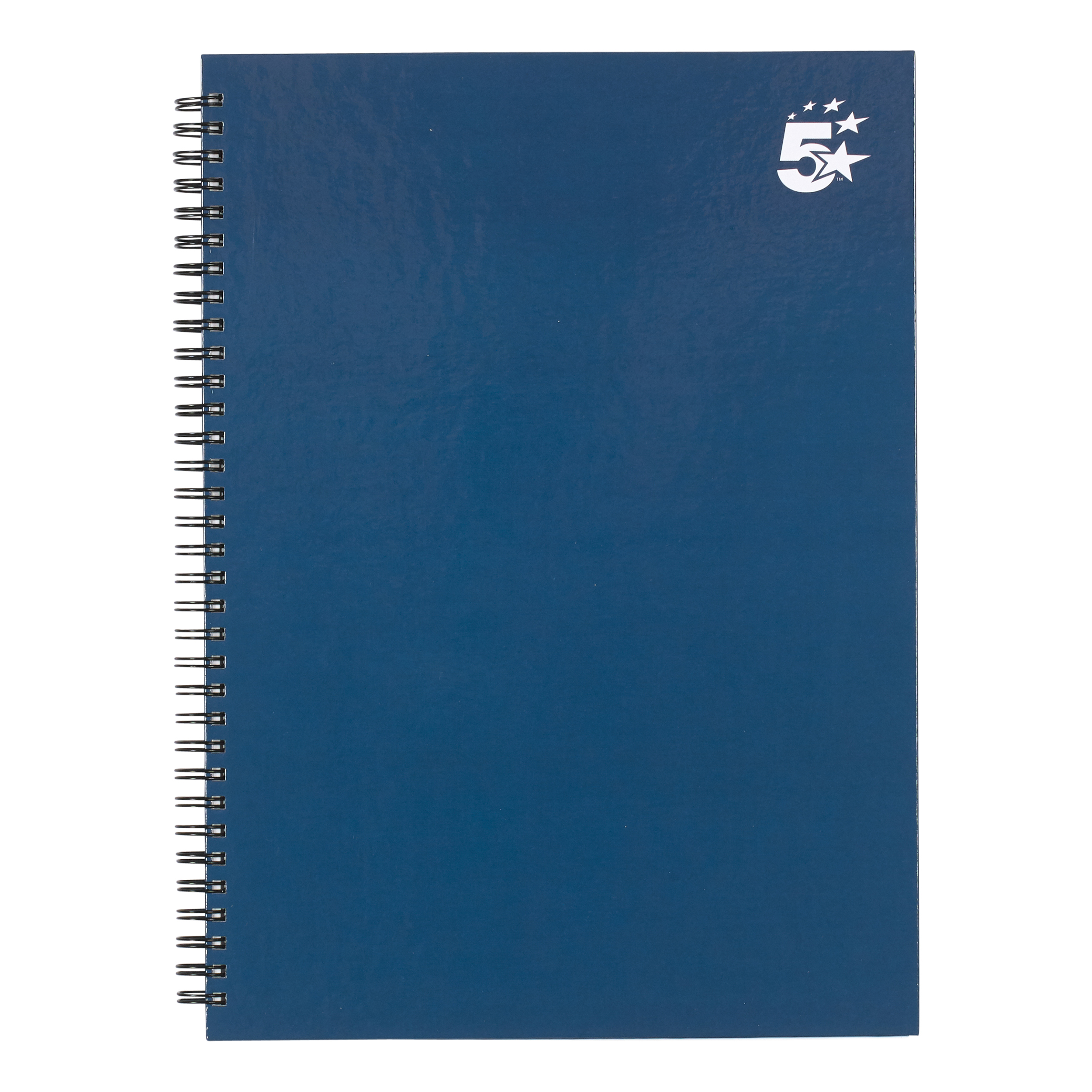 Paper pads or notebooks 5 Star Office Twinbound Hardback A4 140Pg Indigo Ref 943482 Pack 5