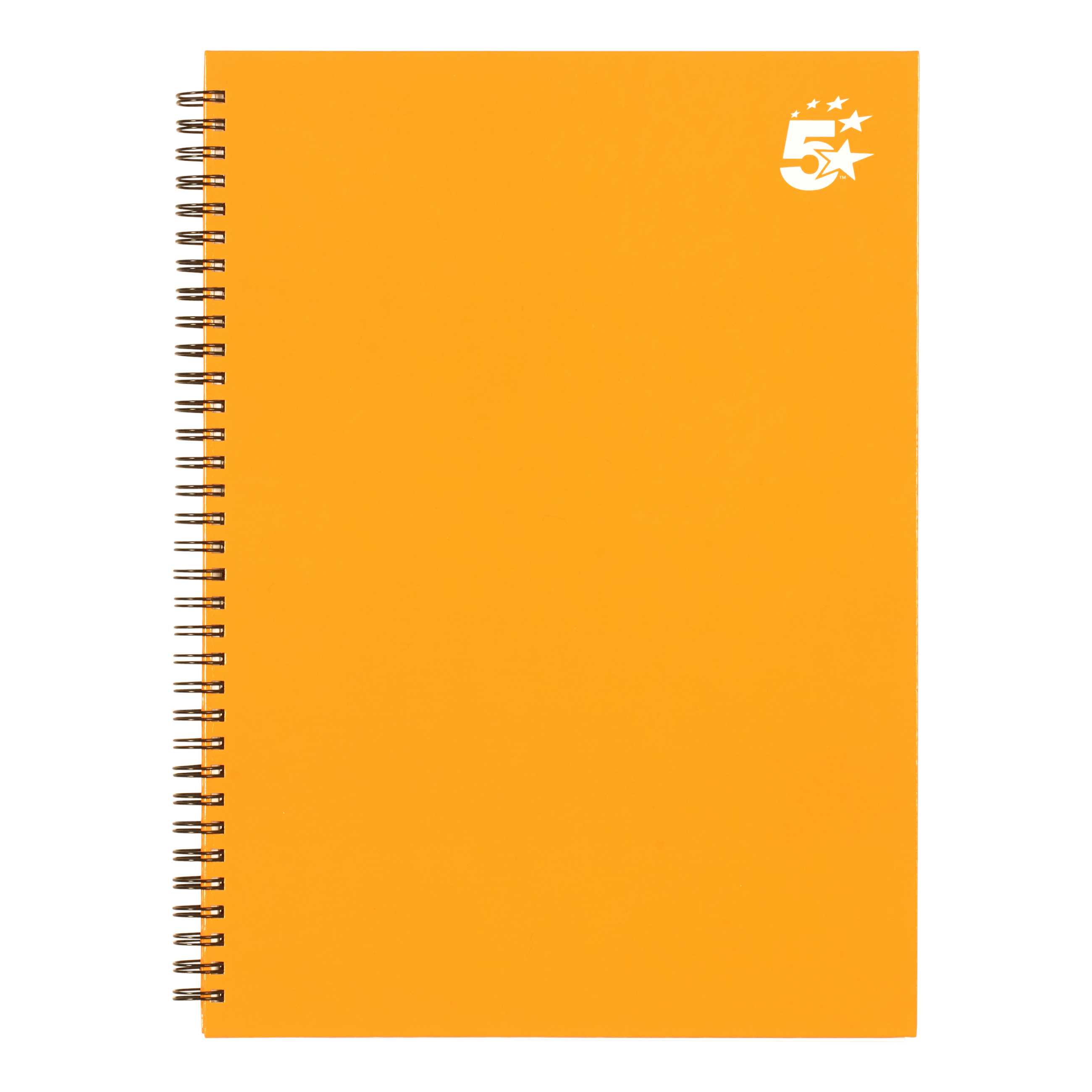 Paper pads or notebooks 5 Star Office Twinbound Hardback A4 140Pg Yellow Ref 943488 [Pack 5]