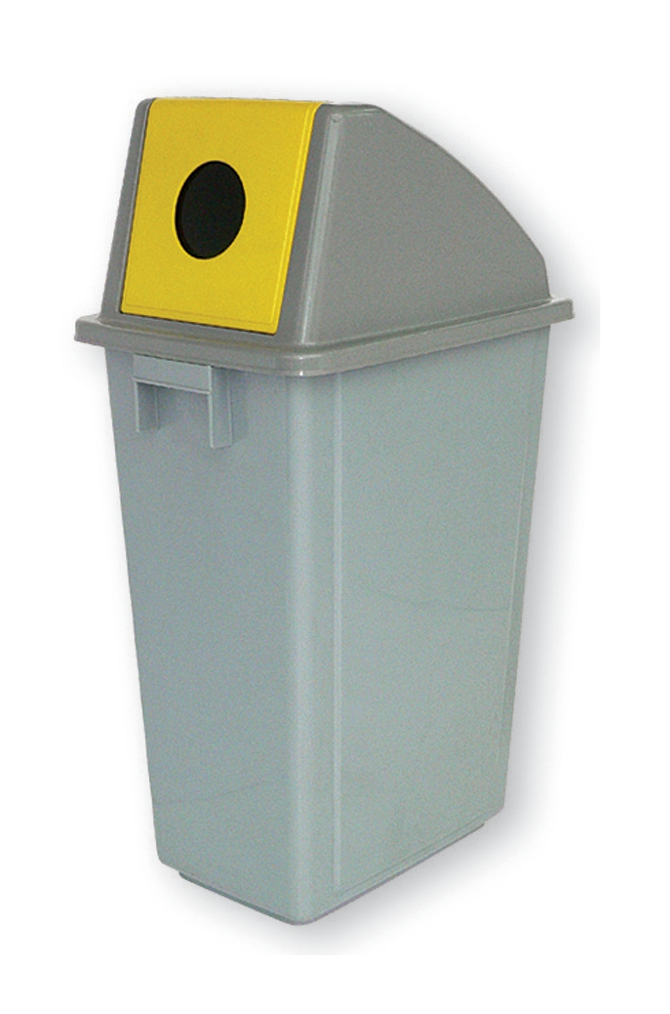 Image for Recycling Bin 58 Litres with Yellow Bottle Slot Top