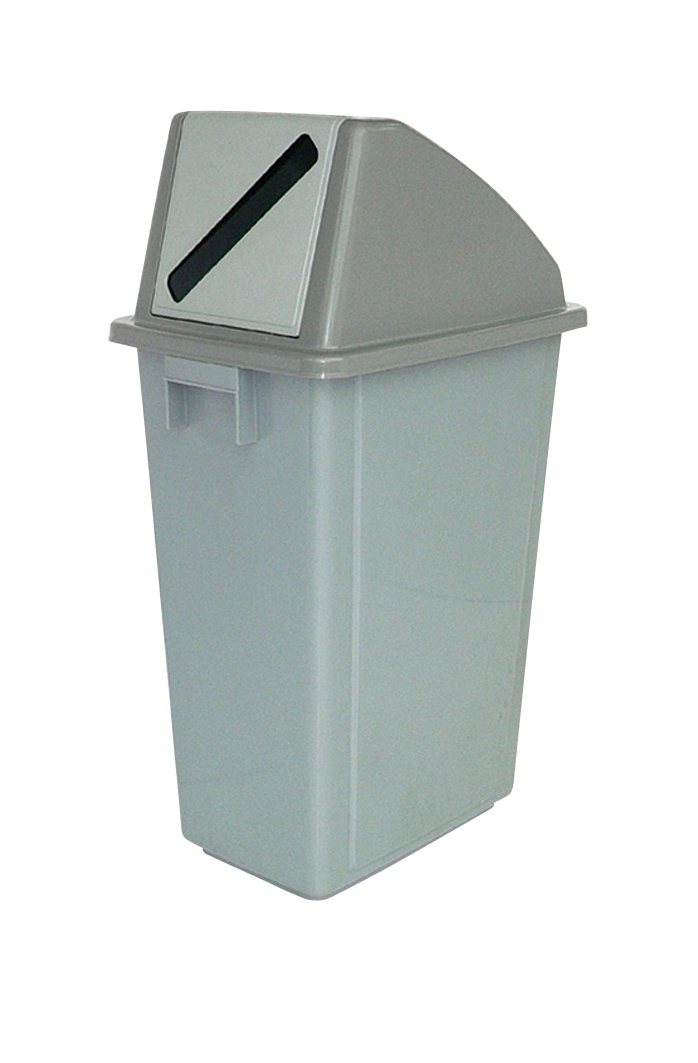 Image for Recycling Bin 58 Litres with Grey Paper Slot Top