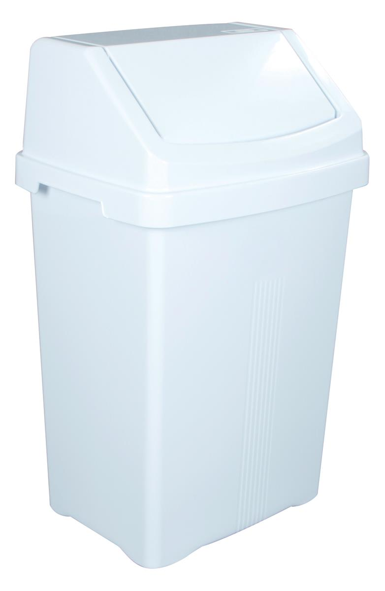 Image for Swing Bin and Lid 50 Litres White