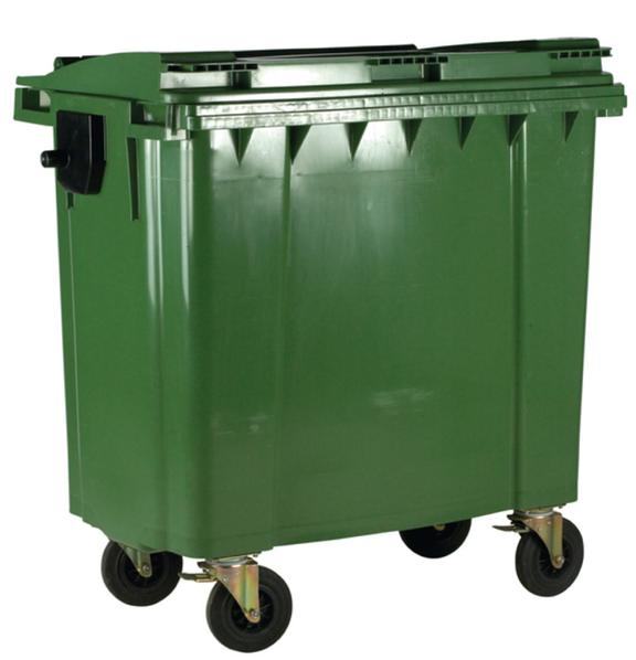 Image for Four Wheeled Bin UV Stabilised Polyethylene 1100 Litres 67kg W1400xD1200xH1450 Green