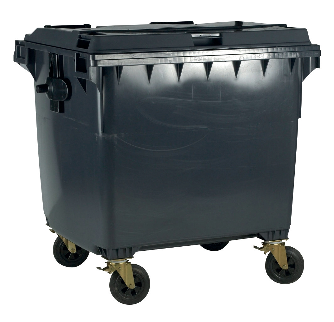 Image for Four Wheeled Bin UV Stabilised Polyethylene 770 Litres 55kg W1350xD770xH1360mm Grey