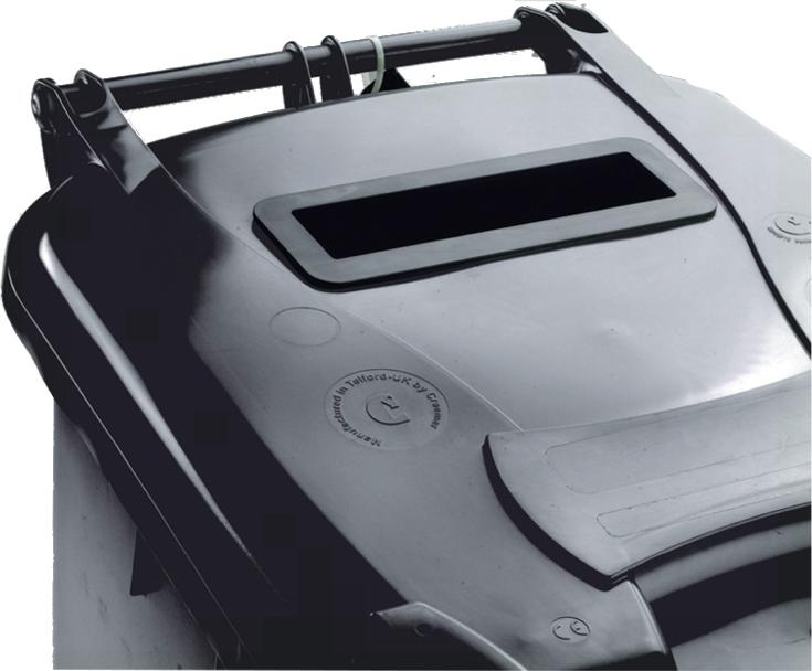 Image for Wheelie Bin Slot and Lid Lock UV Stabilised Polyethylene 240 Litres Grey