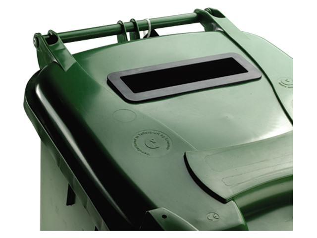 Image for Wheelie Bin Slot and Lid Lock UV Stabilised Polyethylene 140 Litres Green