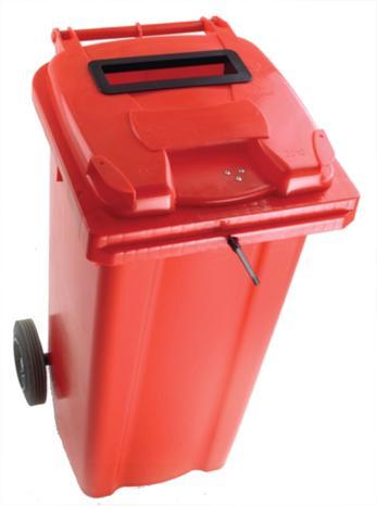 Image for Wheelie Bin Slot and Lid Lock UV Stabilised Polyethylene 140 Litres Red