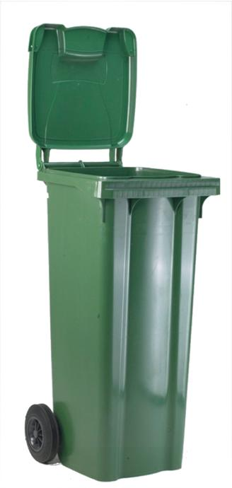 Image for Wheelie Bin High Density Polythene with Rear Wheels 80 Litres Green