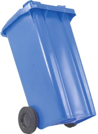 Image for Wheelie Bin High Density Polythene with Rear Wheels 80 Litres Blue