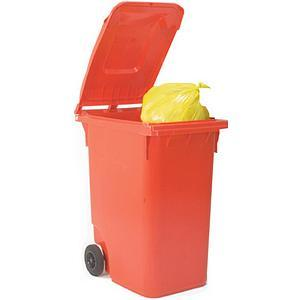Image for Wheelie Bin High Density Polythene with Rear Wheels 80 Litres Red