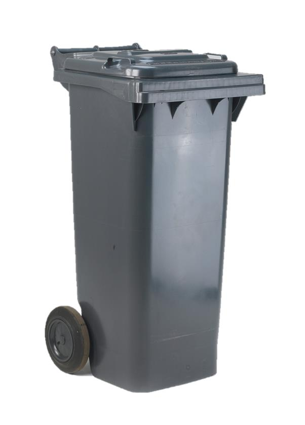 Image for Wheelie Bin High Density Polythene with Rear Wheels 80 Litres Grey