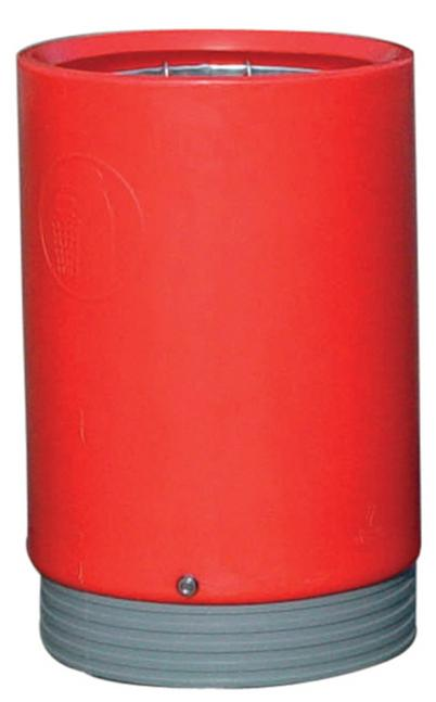 Image for Open Top Bin Red