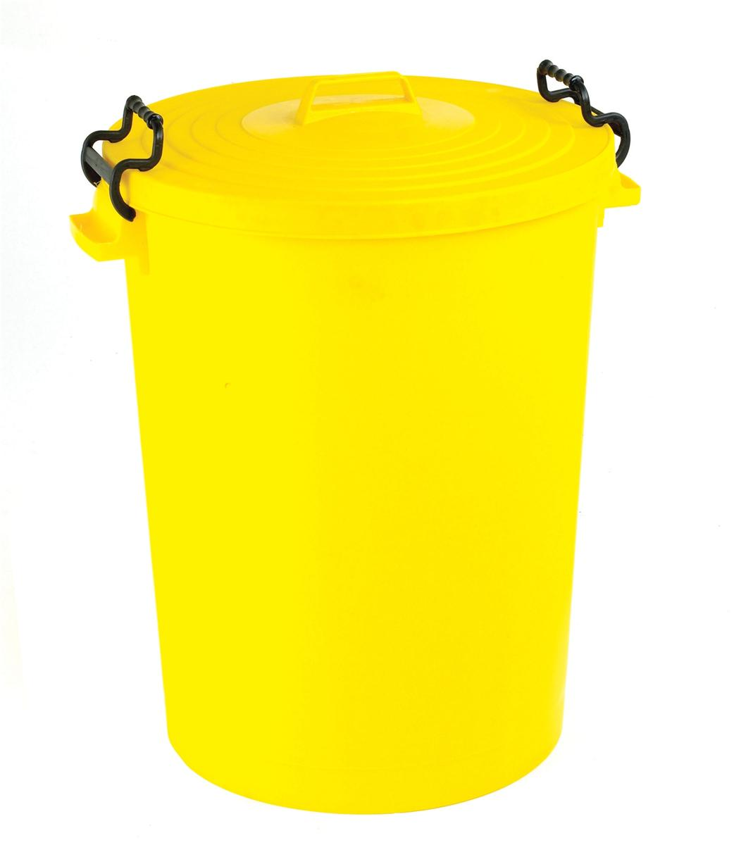 Image for Dustbin with Yellow Lid 110 Litres