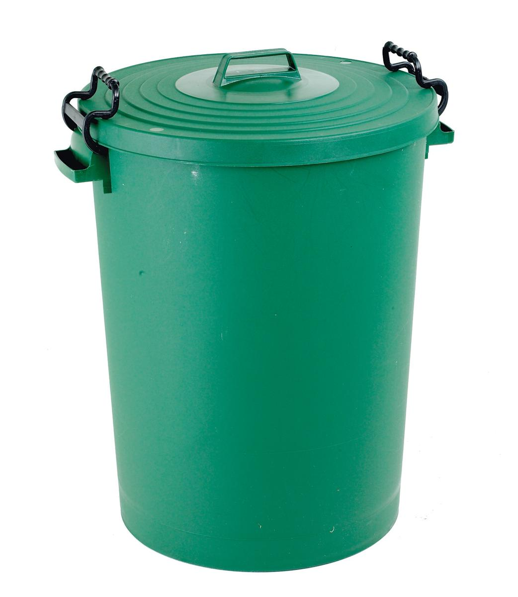 Image for Dustbin with Green Lid 110 Litres
