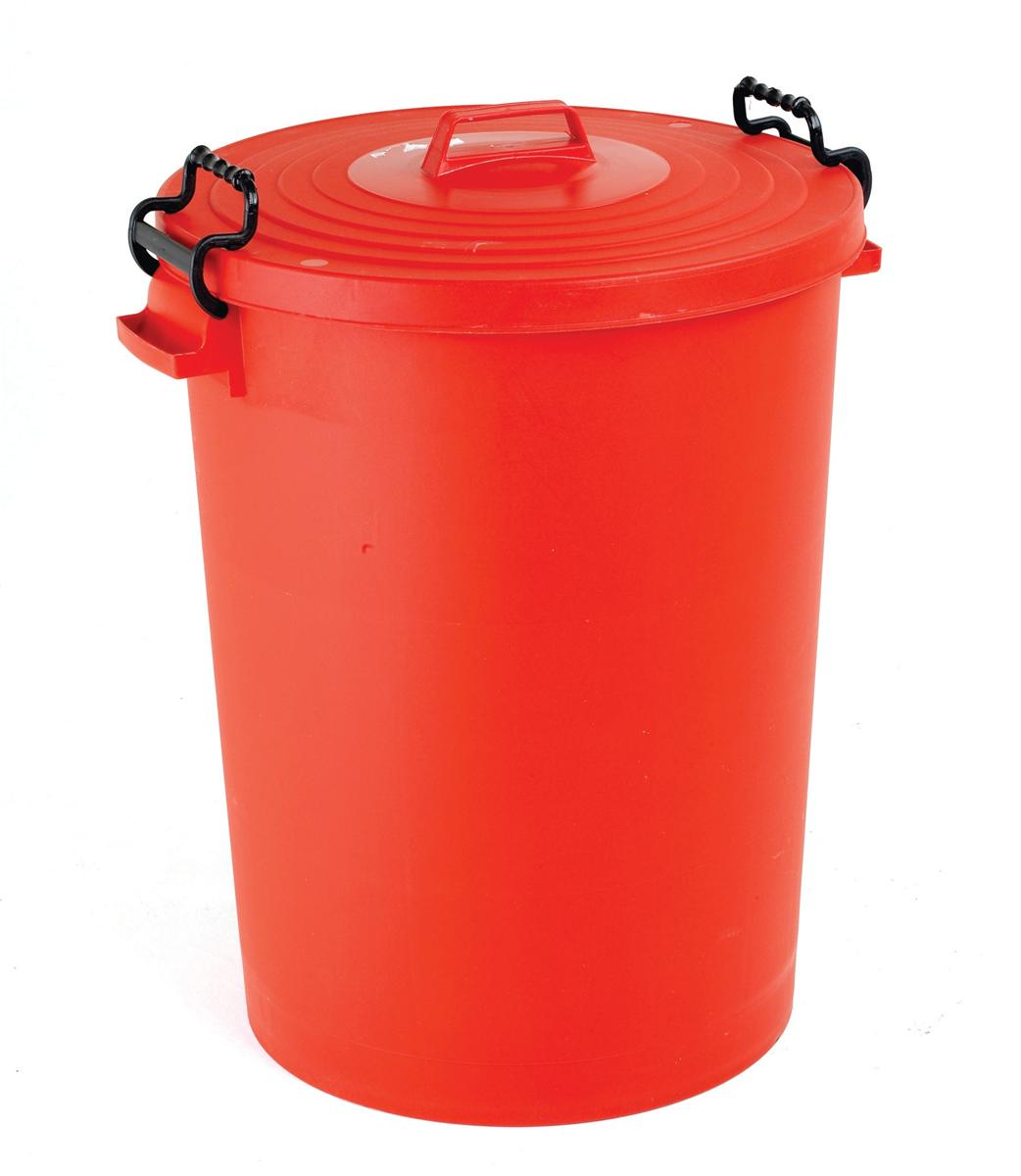 Image for Dustbin with Red Lid 110 Litres