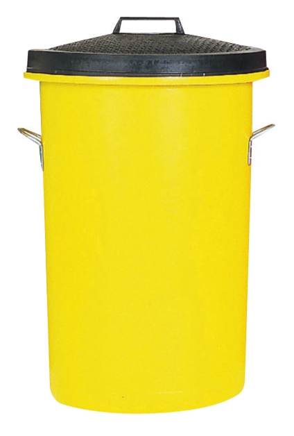 Image for Dustbin Heavy Duty 85 Litres Yellow