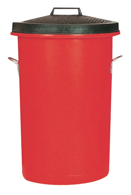 Image for Dustbin Heavy Duty 85 Litres Red