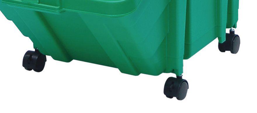 Castor Set for Recycling Storage Bins Black