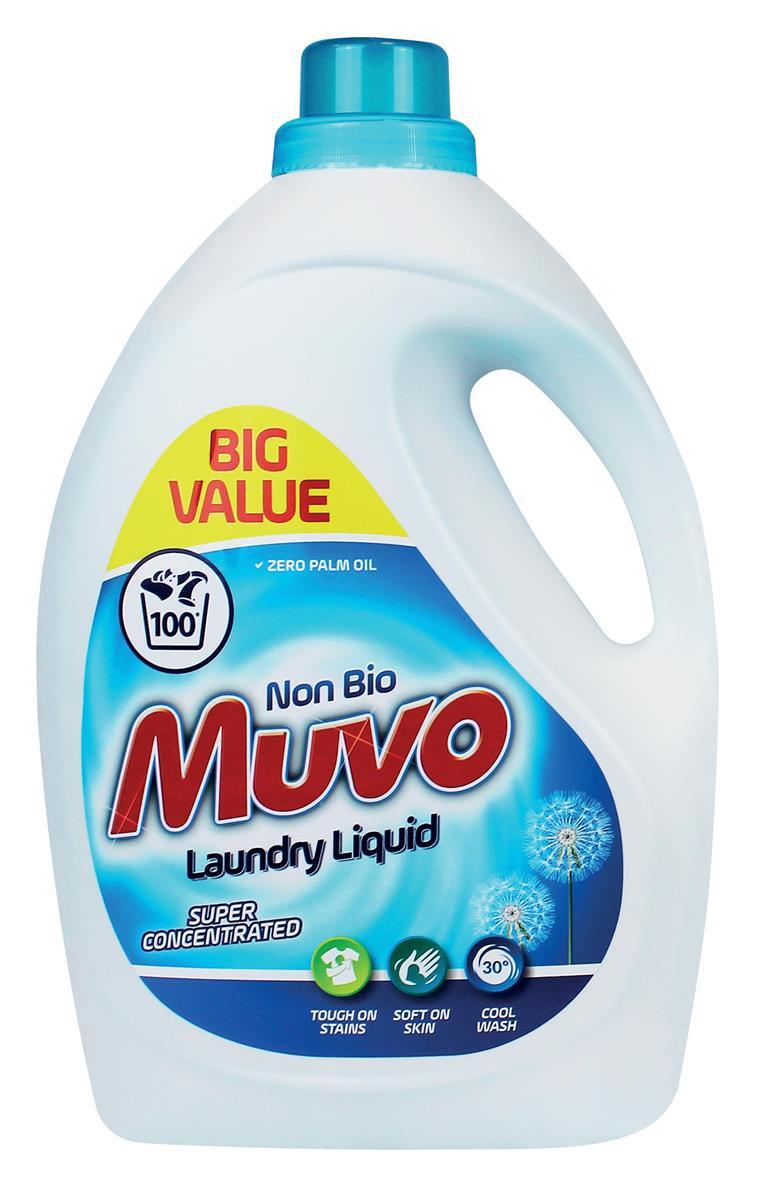Muvo Professional Liquid Laundry Detergent Non Bio 100 Washes 3 Litres Ref M3000MLNB100