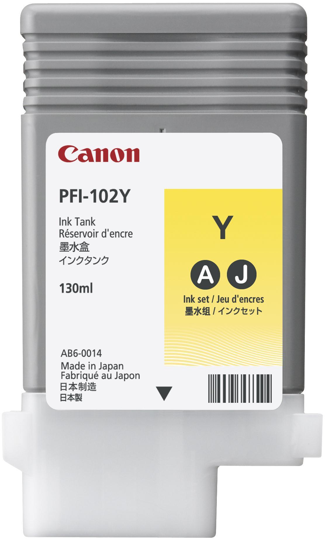 Canon PF1-102Y Ink Tank 130ml Yellow Ref 0898B001AA