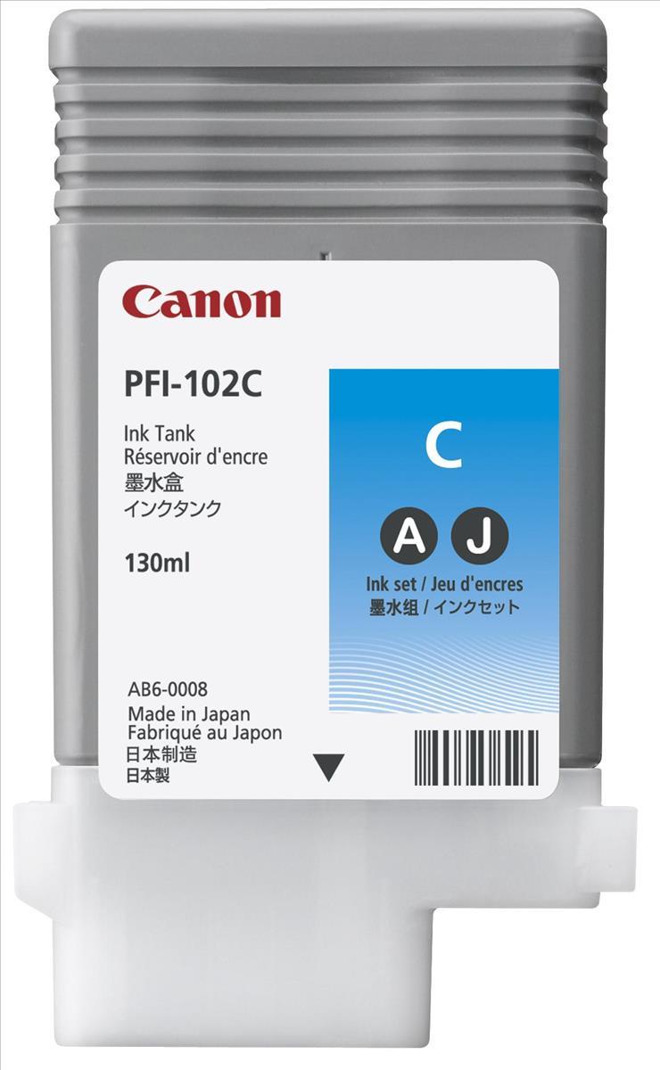 Canon PFI-102C Ink Tank 130ml Cyan Ref 0896B001AA