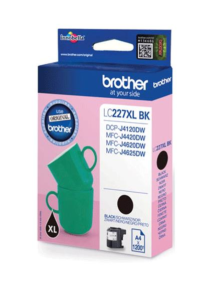 Brother Inkjet Cartridge High Yield Page Life 1200pp Black Ref LC227XLBK