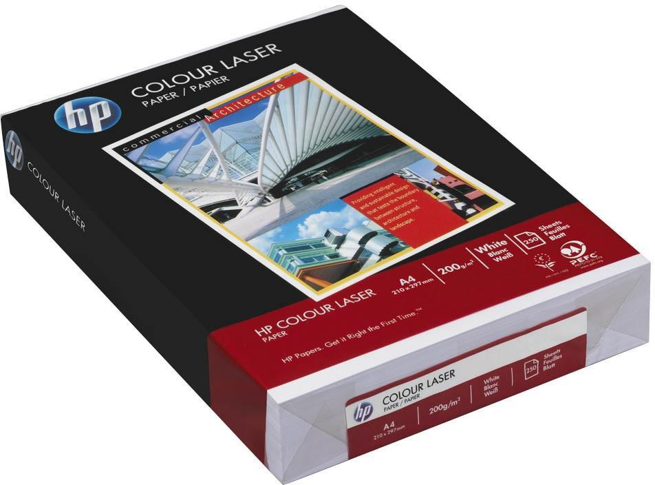 Image for Hewlett Packard [HP] Colour Laser Paper Smooth 200gsm A4 White Ref HCL0349 [250 Sheets]