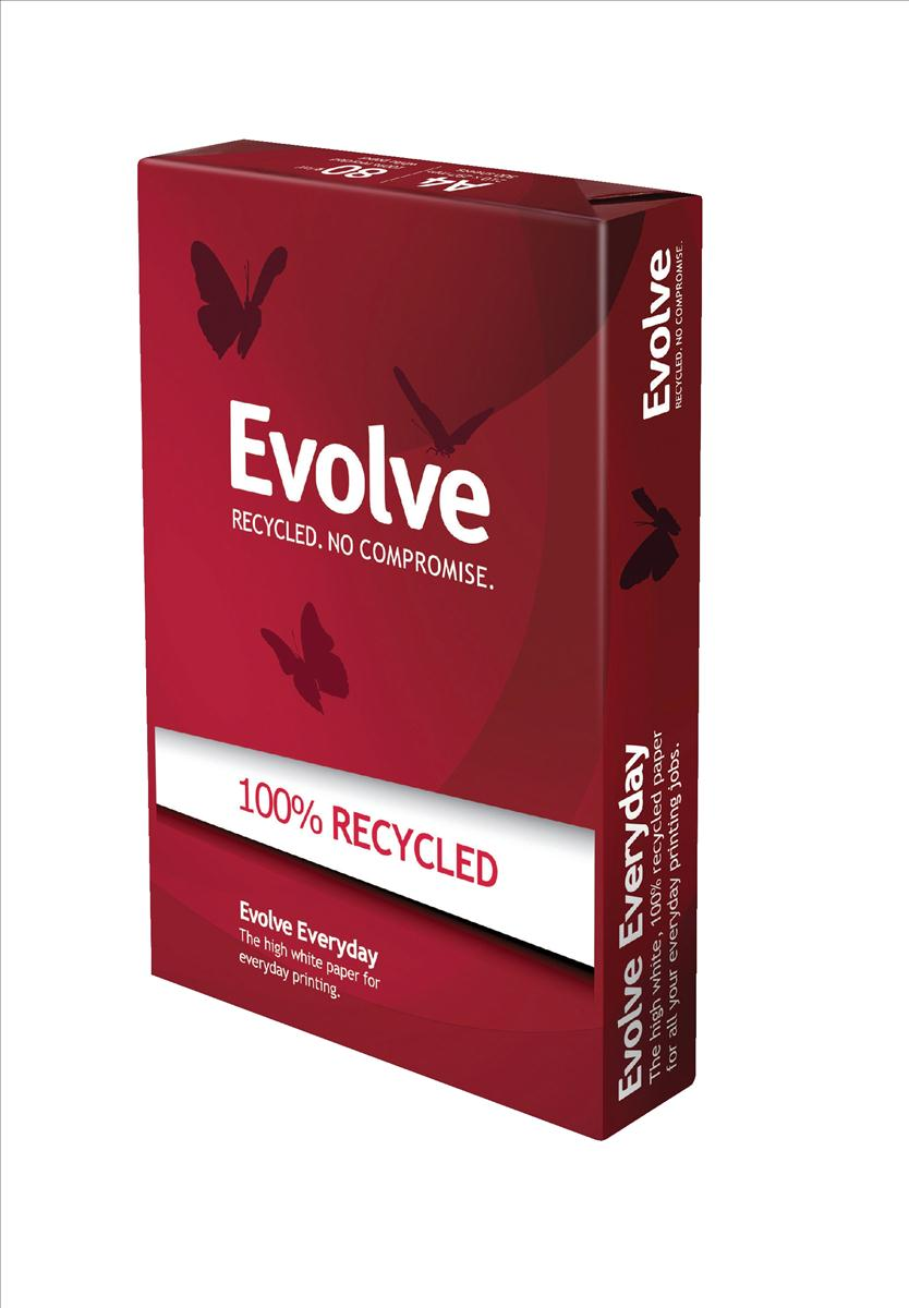 Image for Evolve Everyday Paper Recycled Ream-Wrapped 80gsm A4 White Ref EVOL80A4 [500 Sheets]