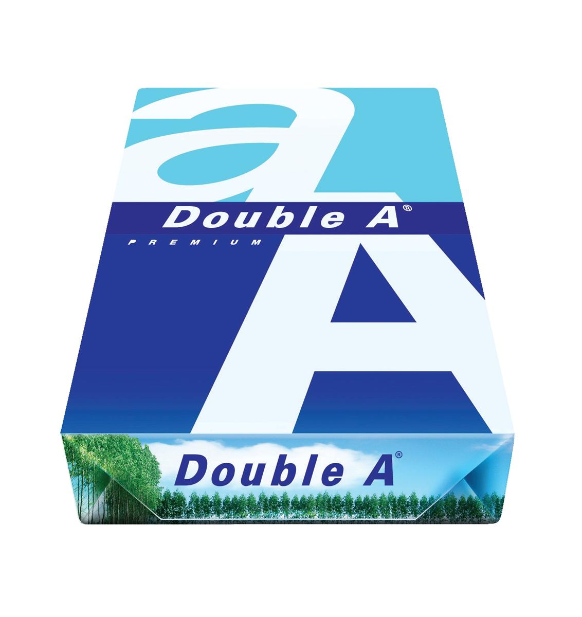 Image for Double A Premium Copier Paper Multifunctional Ream-Wrap 80gsm A4 White Ref 218140800612752 [500 Sheets]