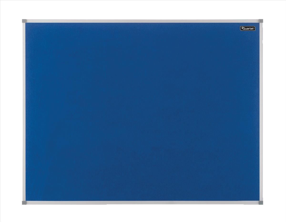 Quartet Felt Notice Board Aluminium Trim 1800x1200mm Blue Ref 1904072