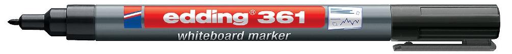 Image for Edding 361 Whiteboard Marker Bullet Tip 1mm Line Black Ref 4-361001 [Pack 10]