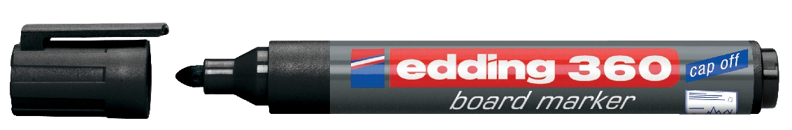Image for Edding 360 Whiteboard Marker Bullet Tip 1.5-3mm Line Black Ref 4-360001 [Pack 10]