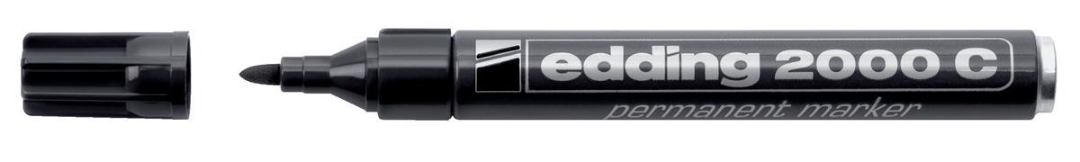 Image for Edding 2000C Permanent Marker Bullet Tip 1.5-3mm Line Black Ref 4-2000C001 [Pack 10]