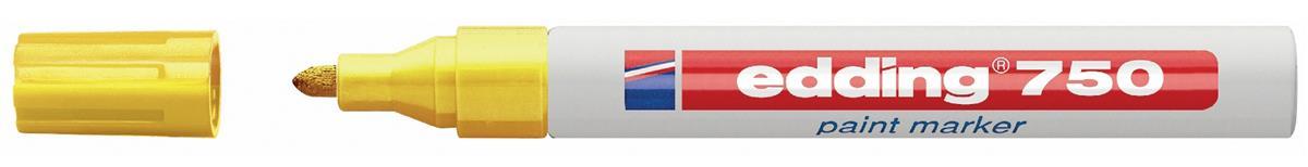Image for Edding 750 Paint Marker Bullet Tip 2-4mm Yellow Ref 4-750005 [Pack 10]