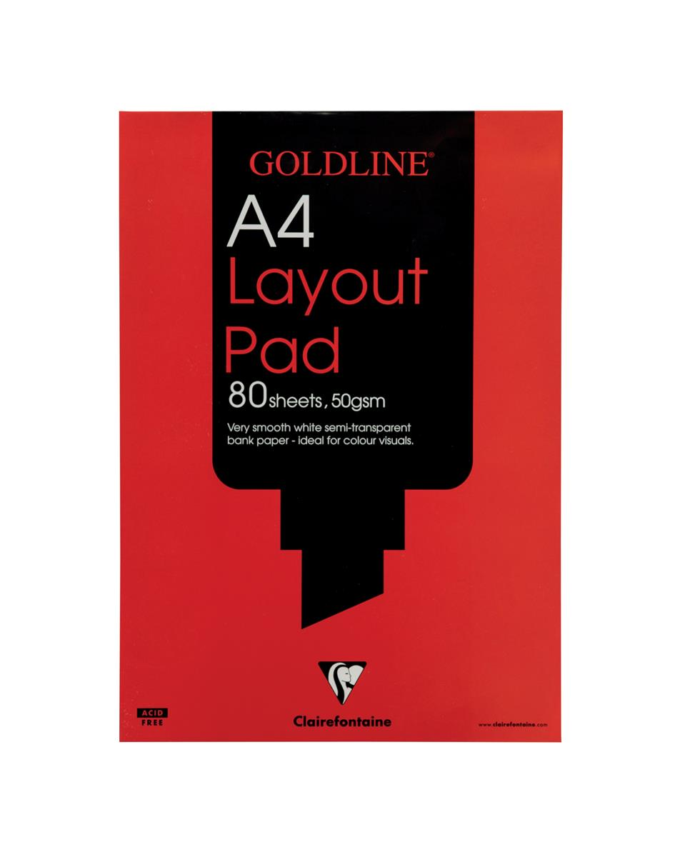 Image for Goldline Layout Pad Bank Paper Acid-free 50gsm 80 Sheets A4 Ref GPL1A4Z [Pack 5]