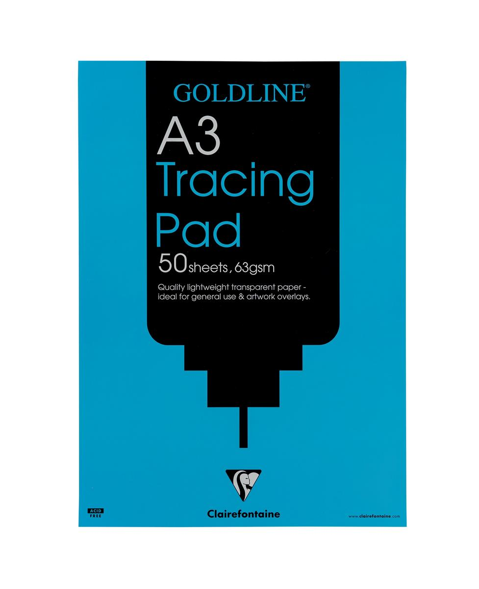 Image for Goldline Popular Tracing Pad 63gsm 50 Sheets A3 Ref GPT2A3Z [Pack 5]